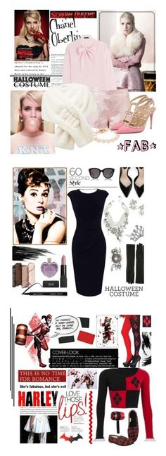 """""""Winners for 60 Second Style: Last Minute Halloween Costume"""" by polyvore ❤ liked on Polyvore featuring Karl Lagerfeld, Chanel, Forever New, Valentino, Urban Decay, Giorgio Armani, Oasis, Zara, Vera Wang and Deborah Lippmann"""