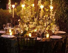 I like this too for an outdoor reception