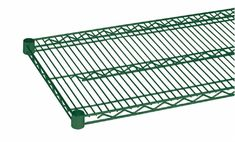 """(2) HEAVY DUTY COMMERCIAL WIRE SHELVING - EPOXY COATED W/ SLEEVE CLIPS (14"""" X 36"""")"""