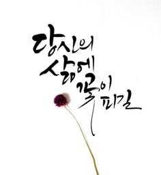 캘리그라피_당신의 삶에 꽃이 피길. 부산캘리그라피_붓글씨로 좋은글 Wise Quotes, Famous Quotes, Korean Tattoos, Korean Quotes, Overlays Picsart, Caligraphy, Japanese Art, Slogan, Life Lessons