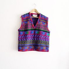 Vintage Adrienne Vittadini Sweater Vest Made in Italy by KheGreen