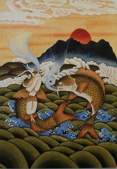 제6회 대한민국 전통채색화 공모대전 입상작과 특별 초대작가전 : 네이버 블로그 Oriental, Asian Art, Folk, Japanese, Illustration, Painting, Artworks, Korean, Chinese
