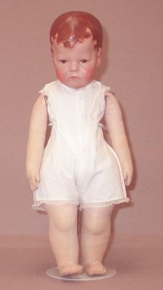 Early Kathe Kruse Doll 1 Cloth Doll underwear in All Original costume