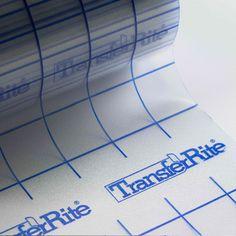 TransferRite Ultra Clear Medium Tack Transfer/Application Tape w/Grid, x Roll Transfer Tape, Heat Transfer Vinyl, Tapas, Grid, Vinyl Cutting, Vinyl Crafts, Cricut Vinyl, Wall Treatments, Adhesive Vinyl