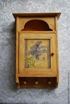"""Прихожая ручной работы. Ярмарка Мастеров - ручная работа Ключница """"Цветёт сирень"""". Handmade."""