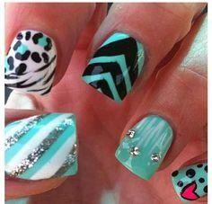 simple elegant nail art design