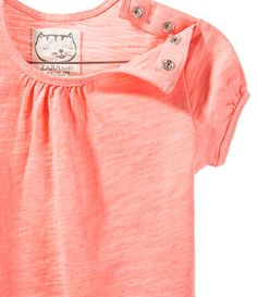 PLAIN T-SHIRT WITH GATHERING - View All - Baby girl - Kids - ZARA United States