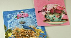 Tags 6 Bird Teacup Flower Collage Tags FREE by ThePerfectJewel4u, $4.85