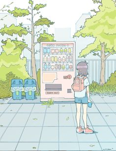 n e m u p a n — Odaiba Vending Machine Based on a pic I took in...