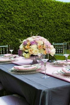 Modern Softened With Pastel Details...set on a cake plate pedestal I think.