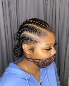 Feed In Braids Hairstyles, Black Girl Braided Hairstyles, Baddie Hairstyles, My Hairstyle, Girl Hairstyles, Quick Hairstyles, Natural Cornrow Hairstyles, Relaxed Hairstyles, School Hairstyles