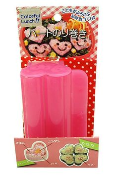 Heart Shaped Sushi Mold Perfect For Bento Lunches Pink