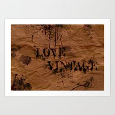 Love Vintage Art Print by Sonia Marazia - $15.60