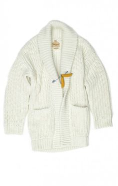 Made & Crafted Sweater Coat with a banana pin...WTF! Need this now