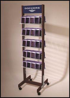 Dockers Wallet Display   Rolling Rack Display for Retail   Custom made by www.sharndisplays.com