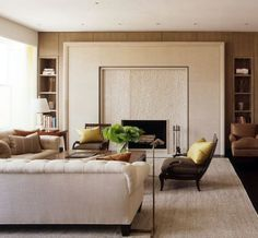 Living room - love the feature wall/mantle
