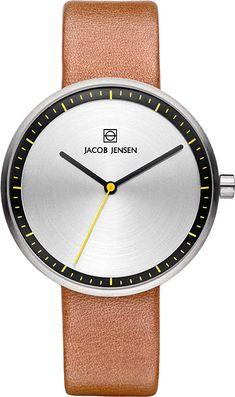 Jacob Jensen Damen Analog Quarz Uhr mit Leder Armband 32281 - 156.53 - 5.0 von 5 Sternen - Damen Uhren 2019 Watches, Daniel Wellington, Clock, Leather, Accessories, Products, Black Friday, Schmuck, Watch