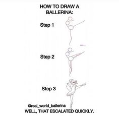 How to draw a ballerina #body #figure #pose