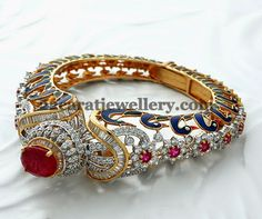 Jewellery Designs: Classic Diamond Kada Cum Bracelet