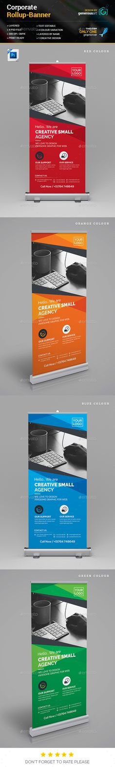 Rollup Banner — Photoshop PSD #landscape #web • Available here → https://graphicriver.net/item/rollup-banner/18006045?ref=pxcr