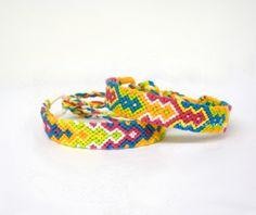 Bright and Summery Friendship Bracelet Set by KnottyAsCanBe, $9.00