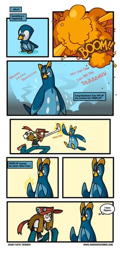 Clawless Victory by Katie Tiedrich on Awkward Zombie. Happened to me too... he has flippers. Makes sense with Empoleon though.