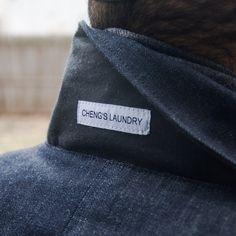 Label Placement details under the collar on this raw denim classic.  Operator #Jacket #RawDenim  Regular #Fit - #ConeMills #Indigo #vermont #madeinamerica #menswear #fashion #workwear