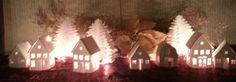 DIY Tea light village set of 10 by hilemanhouse on Etsy, $12.48