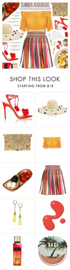 """Summer Adventure"" by noviii ❤ liked on Polyvore featuring Aquazzura, Nannacay, Apiece Apart, Enrico, Missoni, Isabel Marant and Urban Decay"