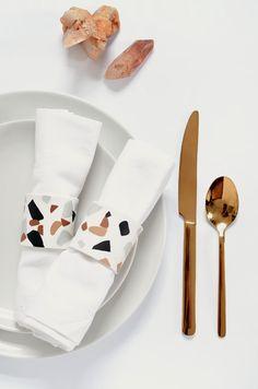 DIY | terrazzo napkin rings @burkatron