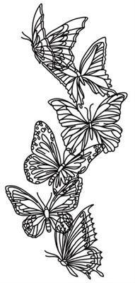 Flight & Dark Butterflies - Vertical Border_image