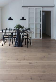 Bjelin Cured Wood Svanshall Wide Plank Flooring, Parquet Flooring, Wooden Flooring, Natural Stone Flooring, Wood Surface, Scandinavian Home, Open Plan Living, Types Of Wood, Planting Flowers