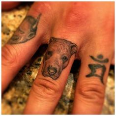 Check out the sick amount of detail in this pup's brow. #InkedMagazine #pitbull #dog #tiny #tattoo #tattoos #inked #ink #cute #finger