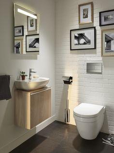 Wc Bathroom, Small Bathroom, Small Wc Ideas Downstairs Loo, Toilette Design, Sweet Home, New Homes, Presque Rien, Home Decor, Decoration Design