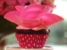 Petal Cupcakes with Pink Buttercream Frosting