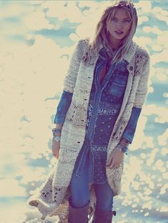 Free People Twinkle Toes Maxi Sweater Coat, €412.56
