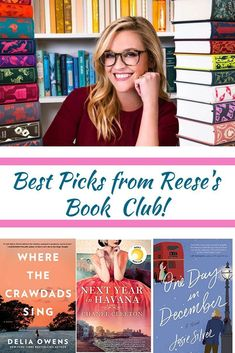The Best Celebrity Book Club Picks The Best Picks from Reese Witherspoon's Hello Sunshine book club: Where the Crawdad's Sing, Next Year in Havana and One Day in December- to mention a few! The Best Celebrity Book Club Picks Feel Good Books, Books You Should Read, Best Books To Read, Great Books, New Books, Library Books, Best Book Club Books, Books To Read For Women, Math Books