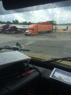 Pilot truck stop time to fuel up and eat some lunch