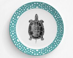 A personal favorite from my Etsy shop https://www.etsy.com/listing/456815076/turtle-reptile-plate-melamine-plate