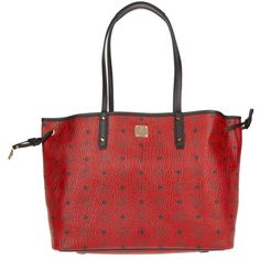 MCM Project Visetos Reversible Shopper Medium Ruby Red in red,... ($720) ❤ liked on Polyvore featuring bags, handbags, tote bags, red, mcm tote, red tote, zippered tote bag, shopping tote bags and shopping bag