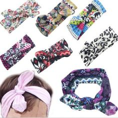 Sale 25% (2.31$) - Kids Girl Baby Toddler Flower Headband Hair Wear Floral Colorful Infant Bowknot Fabric Accessories
