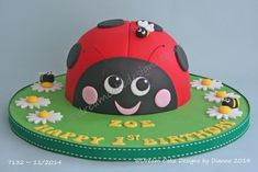 LADYBIRD ~ BIRTHDAY CAKE 7th Birthday Cakes, Dream Cake, Centre Pieces, Celebration Cakes, Celebrity Weddings, Cake Designs, Luxury Wedding, Special Occasion, Desserts