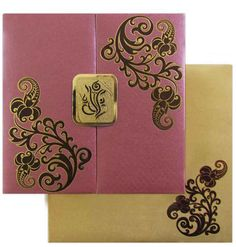 Captivating Exclusive Invitation Card Made With Brilliant Gold Foil Work And  Mesmerizing Designs. Click Here To