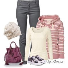 """Hoodie and Converse"" by shauna-rogers on Polyvore"
