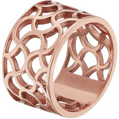 Galiana Wide Rose Gold Ring by TARTESIA ($165) ❤ liked on Polyvore featuring jewelry, rings, rose, red gold ring, rose gold jewellery, wide rings, handcrafted jewellery and handcrafted rings
