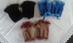 háčkované rukavice