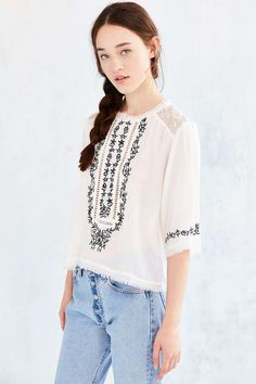 Kimchi Blue Flora Blouse - Urban Outfitters