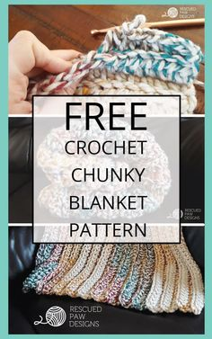 Learn how to make a Chunky Crochet Blanket with this FREE crochet pattern by Rescued Paw Designs. Click to read more or pin and save for later! via @rescuedpaw
