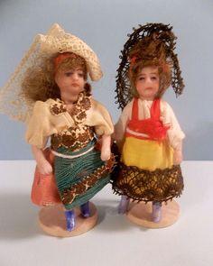 French Lilliputian SFBJ Darling Tiny Spanish Señorita c1890 - 1915