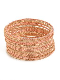 our rose twist bangles! perfect for stacking!